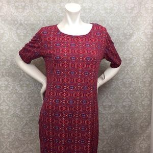 🌞Lularoe NWT Red Kaleidoscope Print Dress